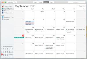 Desktop Calendar Month