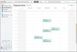Desktop Calendar Week