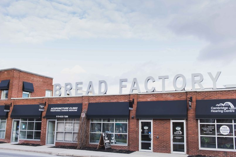 The now modernized Bread Factory block on the west side of the river.